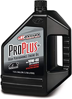 Maxima (30-029128) Pro Plus+ 10W-40 Synthetic Motorcycle Engine Oil - 1 Gallon Jug