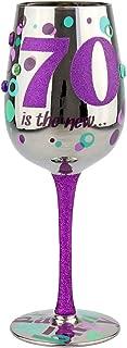 Top Shelf TS-5317A 70Th Birthday Wine Glass, 15 oz, Multicolored