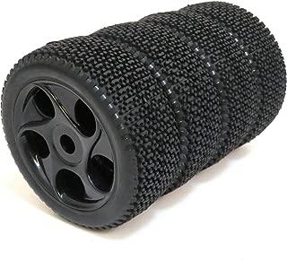4pcs RC 1/8 Buggy Off Road Tires Hex 17mm Wheels Fit for 1:8 Losi HPI XTR Badlands Cars Black