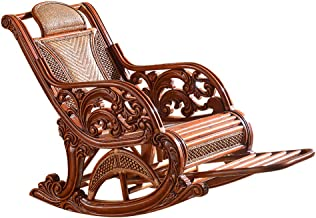 Rocking Chair, All Weather Dining Chairs Lounge Chair Comfortable Outdoor Patio Furniture Relax Wicker Chairs Bar Stool wi...