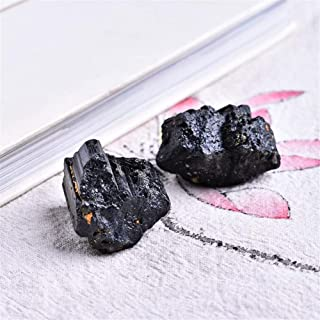 ZZLLFF 2pc Mineral de turmalina turmalina reparación Negro Natural Puede ser Utilizado for la decoración casera DIY cokkection Regalo