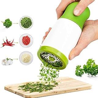Herb Grinder,ShowTop Spice Mill Parsley Shredder Chopper Vegetable Cutter Garlic Coriander Spice Grinder Crusher Kitchen A...