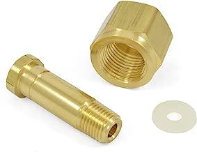 CGA-320 Nut & Nipple w/ Washer, CO2 Carbon Dioxide Fittings x 1/4