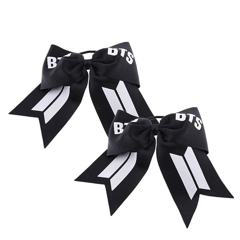 Teblacker BTS Bow-Knot Headband, Kpop Bangtan Boys Jungkook, Jimin, V, Suga, Jin, J-Hope, Rap Monster No-Damage Elastic Hairband Rope for The Army( 2pcs)