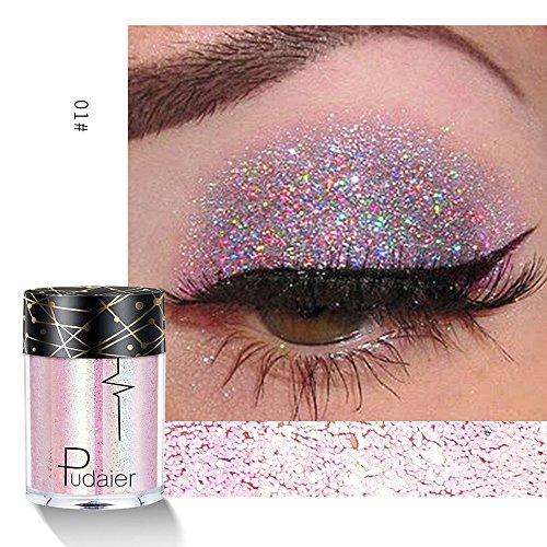 Fard à PaupièRes,BeautyTop Ombre PaupièRes Matte Paillettes Poudre Palette Maquillage Set Mat Disponible Libre Scintillant MéTallisé Pow Shimmer Eyesh