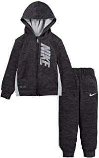 Nike Baby Boy's Heather Therma Zip-Up Hoodie and Pants Two-Piece Set (Toddler)