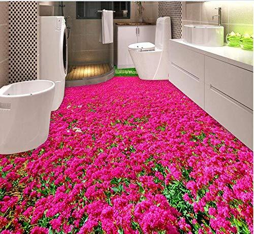 3D-PVC-Boden Benutzerdefinierte wasserdichte selbstklebende schöne Blumen und 3D-Badezimmerboden Fotos 3D-Wandbild Wallpaper-430Cmx300Cm
