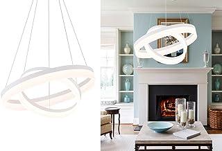 Sponsored Ad - ROYAL PEARL LED Foyer Pendant Light Modern Flush Mount Chandelier Down Light for Living Dining Room Bedroom...
