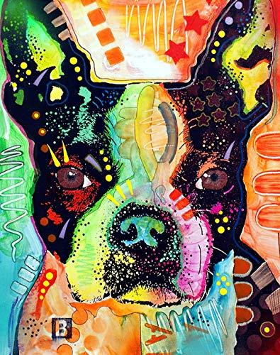 LZQZJD Puzzle educativo per Adulti 5000 Pezzi Jigsaw Boston Terrier Gioco di Puzzle impegnativo