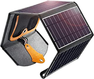 Solarpanel-Ladegerät, 22W Dual USB Tragbares Solarpanel Smartphone Faltbar Panel Ladegerät Wasserdicht für Smartphones, La...