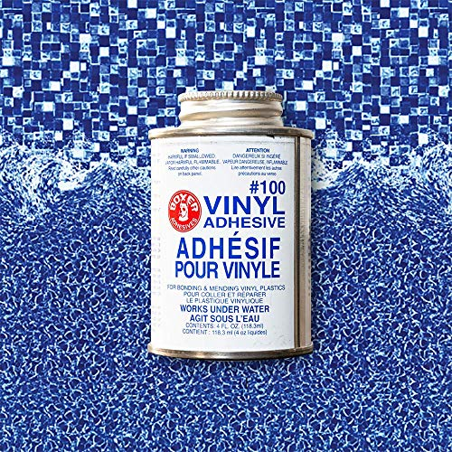 PRO Vinyl Pool Liner Patch Kit - Repair kit with 2'x2' Vinyl and Adhesive (GLIMMERGLASS)