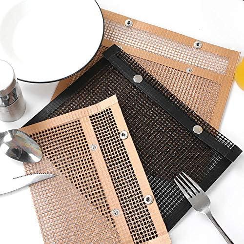 Huiyan Tapis de barbecue antiadhésif haute température Accessoires de barbecue Cuivre 27 x 22 cm. Cuivre 27 x 22 cm.
