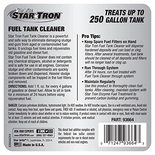 Star Tron Gas Tank & Fuel System Cleaner