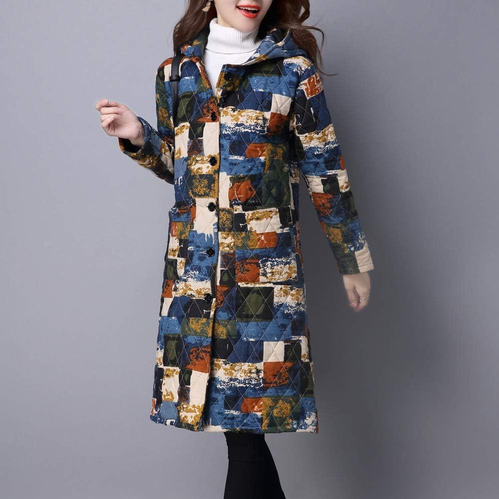 OIKAY wintermäntel Damen Plus Größe Folk-Custom Mantel Baumwolle gefütterte Jacke Lange Puffer Parka Blaud