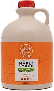 comprar comparacion Jarabe de arce BIO - Grado A (Dark, Robust taste) - 1,89 litros (2,5 Kg) - Miel de arce biológico - Sirope de arce - Organ...
