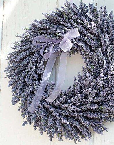 PLANT&STYLE Künstlicher Lavendelkranz, Ø40cm