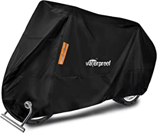 WOTOW Motorcycle Cover, Waterproof Durable Tear Resistant Motorbike Scooter Mopeds Cover All Season Protection From Snow D...