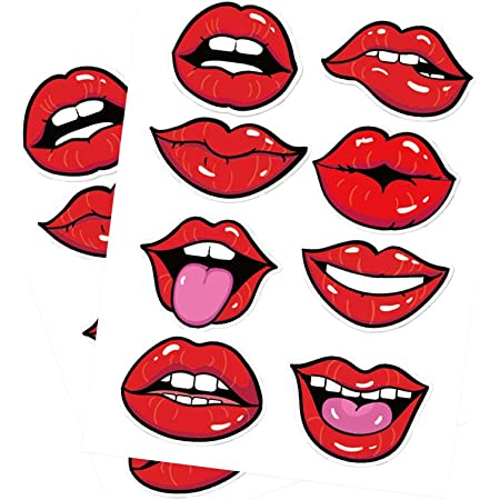 Cherry Lips Mouth Laptop Sticker Bottle Macbook Decal Style 269552