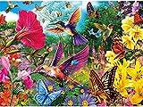 ParNarZar DIY 5D Diamant Malerei Set Vollrunde Bohrer - Vogel Blumen Schmetterling - GemäLde Kits Strass Diamant GemäLde FüR Hauptwanddekor, Enthalten Werkzeuge 35X45 cm