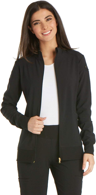 Cherokee iflex Women's Zip Front Warm-Up Scrub Jacket: Clothing, Shoes & Jewelry