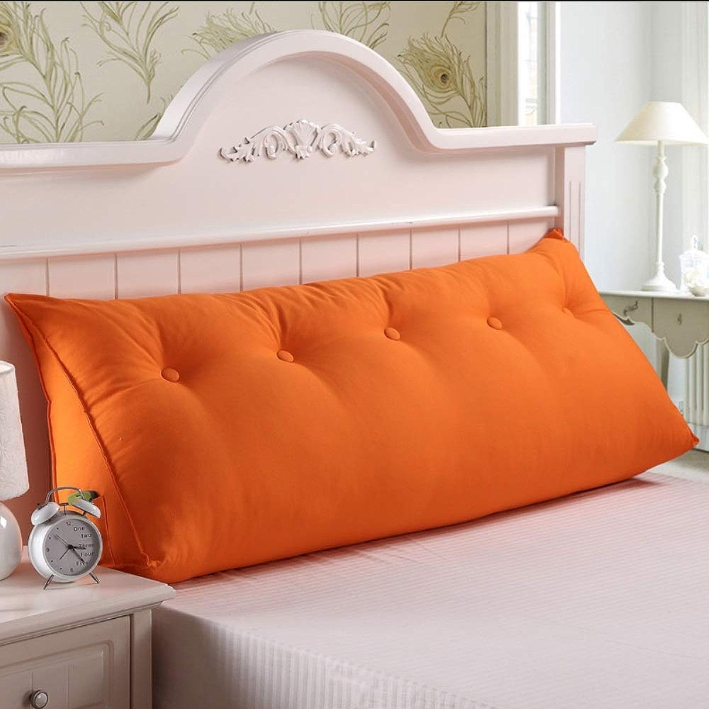 Coussin De Coton En Coton à L'arrière, Coussin De Base En Coton, Coussin De Triangle, Violet Clair (Couleur   Orange, taille   150cm)