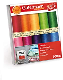 Amann 100/% Polyester Core-Spun Sewing Thread  Sabac 80 1000M Color 1161 Durable