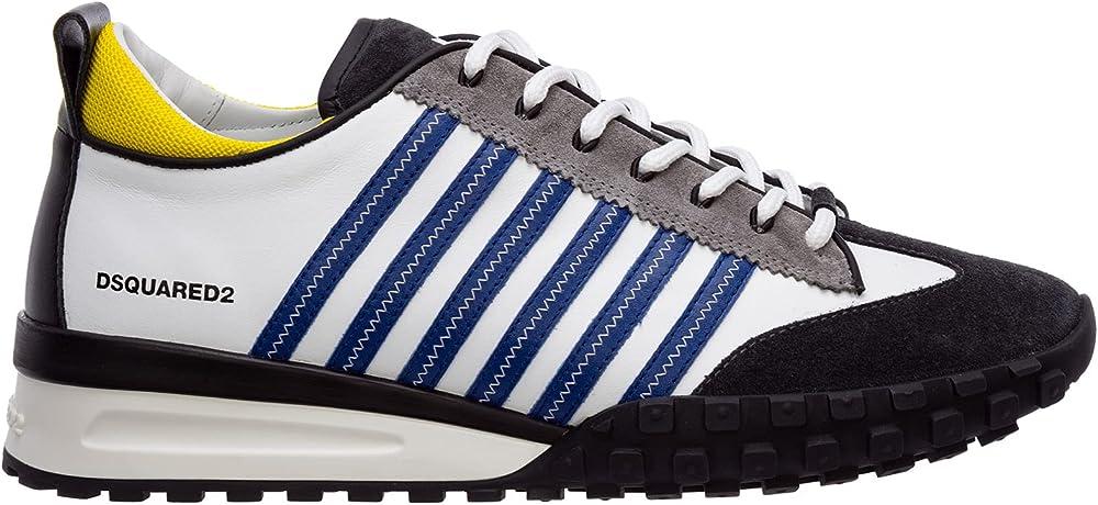 Dsquared2 scarpe sneakers per uomo in pelle numero 42 eu