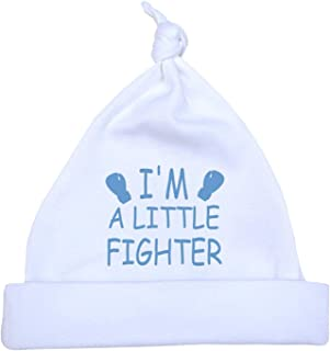BabyPrem Preemie Baby Hat Little Fighter Boy Girl Clothes 1.5-7.5lb