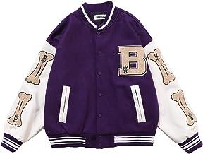 2021 New Vintage Streetwear Jacket,Oversized Patchwork Jacket,Flocking Embroidery Baseball Uniform,Pu Leather Stitching Coat