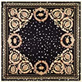 Aututer Nueva bufanda de seda 39 pulgadas bufanda cuadrada de sarga femenina bufanda decorativa de moda con estampado de silla de montar