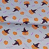 Baumwollstoff Halloween Kürbisse Dekostoff Modestoffe -