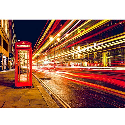 WENLI Jigsaw Puzzles British Street red Phone Booth Puzzle 500-6000 Pieces Challenging, Perfect for Family Fun for Adults, Families, and Kids Ages 8 and up Challenge Puzzle Gift
