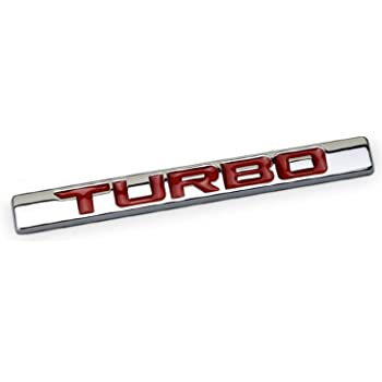 Red Chrome 1Pcs Chrome Finish Metal Emblem 6.4L Badge Replacement For Universal Cars