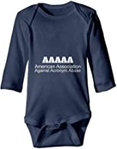 PUREYS-I Printed American Association Against Acronym Abuse Funny Infant Baby Girl Boys Long Sleeves Romper Jumpsuit