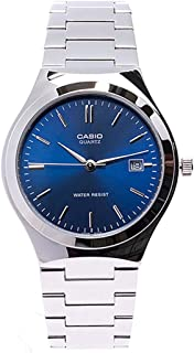 Casio Men's Classic Blue Analog Dial Stainless Steel Band Watch [MTP-1170A-2A]