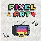 Pixel art: Libro de colorear para niños, 20 modelos de pixel art para colorear | Pixel art | Pixel art de colorear | Libro colorear niños