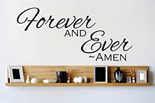 Design with Vinyl OMG 713-114 Decor Item Decal Vinyl Wall Sticker Forever and Ever Amen Quote Home Living Room Bedroom Dec...