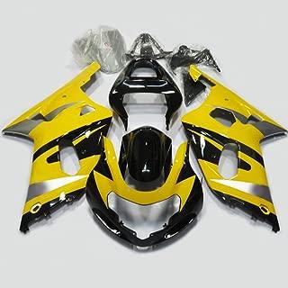 ZXMOTO Yellow & Black Fairing Kit for Suzuki GSXR 600 GSXR 750 K1 2001 2002 2003