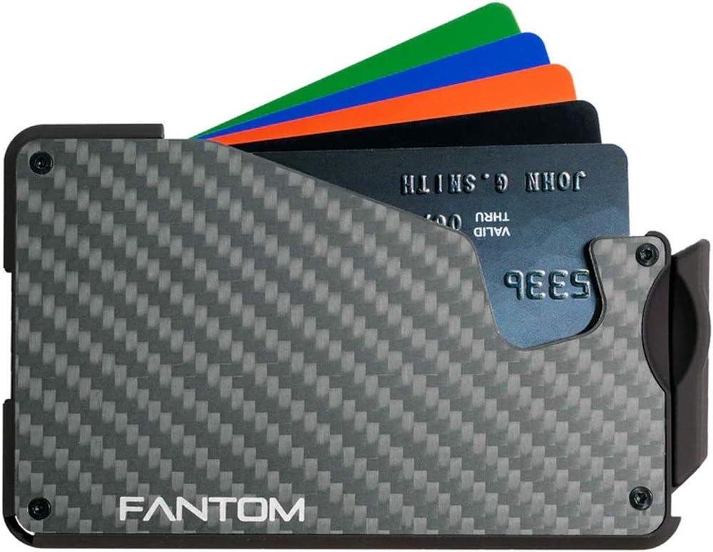 Fantom Wallet S 10 Carbon Fiber Slim Minimalist Wallet with Coin Holder