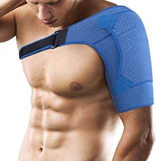 Shoulder Support Brace for Men and Women, Adjustable Neoprene Dislocated Shoulder Strap for Rotator Cuff, AC Joint Muscle Tear Recovery, Labrum Tear and Tendonitis