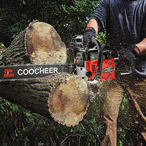 COOCHEER 58CC 20 Inch Gas Chainsaw