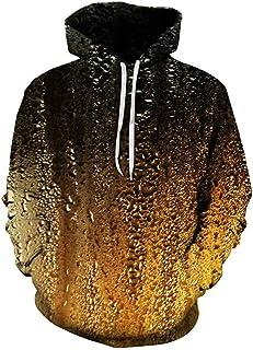 HJHK Uomo Felpa con Cappuccio con Stampa 3D realistica Unisex Pullover Sweatshirt con Maniche Lunghe Pullover con Tasche c...