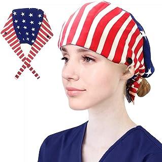 قبعة عمل مع زر، قبعة عمل قطنية للجنسين مع عصابة رأس قابلة للتعديل قبعات خلفية للنساء والرجال مقاس واحد