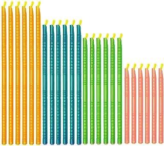 CUGBO 袋止めクリップ クランプ 袋密封 密封クリップ 食材保存 鮮度保ち 防水防湿 繰り返し使用可能 4色4サイズ (スティック,24本セット)