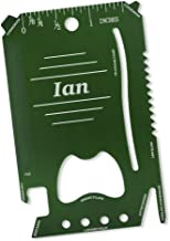 Dimension 9 Ian - Laser Engraved, Anodized Metal Personalized Wallet Tool