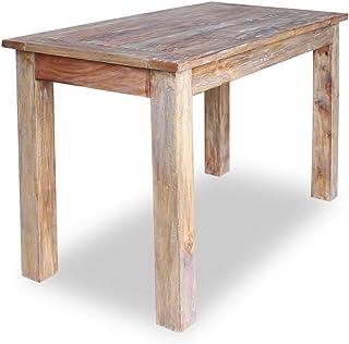 Festnight Table de Salle à Manger Table en Bois de récupération 120 x 60 x 77 cm
