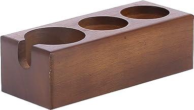 Suporte para portafilter, rack de madeira compósito redondo para barras de café