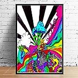 Pintura de arte de lienzo 30x50cm sin marco Seta psicodélica Trippy Arte abstracto Decoración del hogar