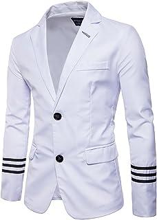AOWOFS Men's Suits Slim Fit Blazers Pure Colour Two Button Wedding Suits Party Blazers Jacket