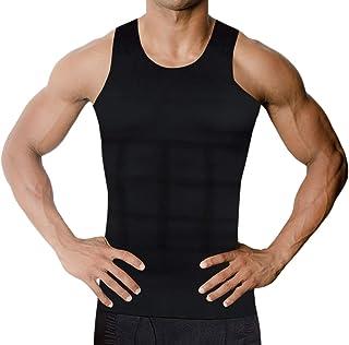 加圧シャツ メンズ タンクトップ インナー 姿勢矯正-お腹-ダイエット-機能性-筋トレ-スパンデックス【TOMOZONE】 (黒タンク, M)
